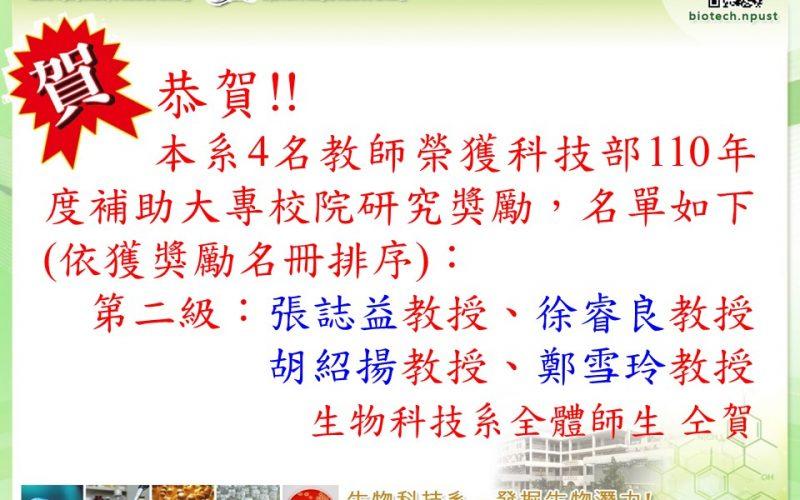 110_科技部研究獎勵_老師